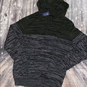 American Rag Sweaters - Men's pullover marbled sweater with hood